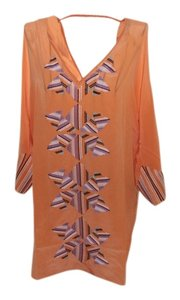 Addison Silk 70's Retro Top Orange