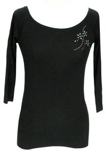 French Connection Embellished Scoop Neck Sweater