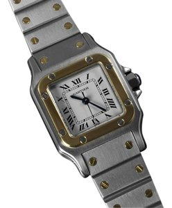 Cartier Cartier Ladies Santos Galbee, Automatic - Two Tone, 18K Gold & Stainless Steel