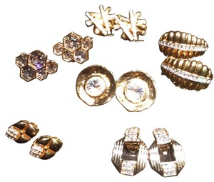 Bundle of 6 pairs of Clip-on Earrings with Crystals - 1 Pair is Nolan Miller