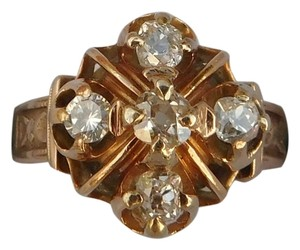 Antique Victorian 14K Rose Gold 0.75ct Old Cut Diamond Ring