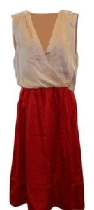 Tory Burch short dress Red, Cream Silk Wedding Classic on Tradesy