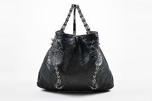 Thomas Wylde Gunmetal Distressed Leather Jeweled Colossus Scorpion Shoulder Bag