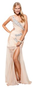 Terani Couture Prom One Beaded Evening See Through Dress