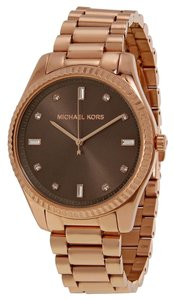 Michael Kors Nwt Michael kors Blake brown dial rose gold stainless steel watch