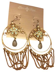 Stein Blye Dangle Earrings