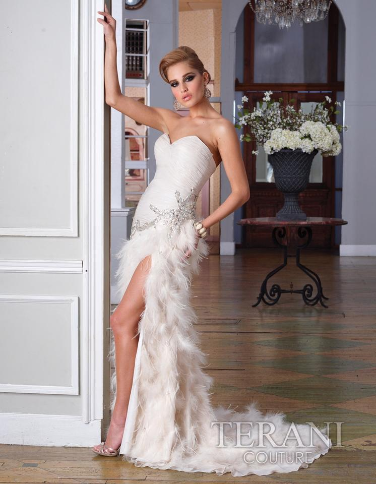 Terani couture formal dress ivory long 61 off dresses for Terani couture wedding dresses