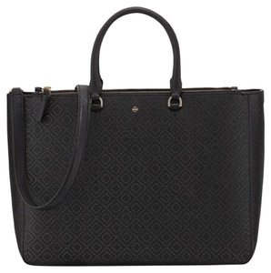 Tory Burch Robinson Large Perforated Tote Double Zip Shoulder Bag