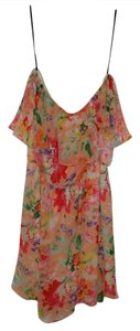 Forever 21 short dress Peach Multi Flowy Halter Bright Floral on Tradesy