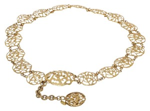 Chanel Chanel Gold CC Cut Out Disc Belt