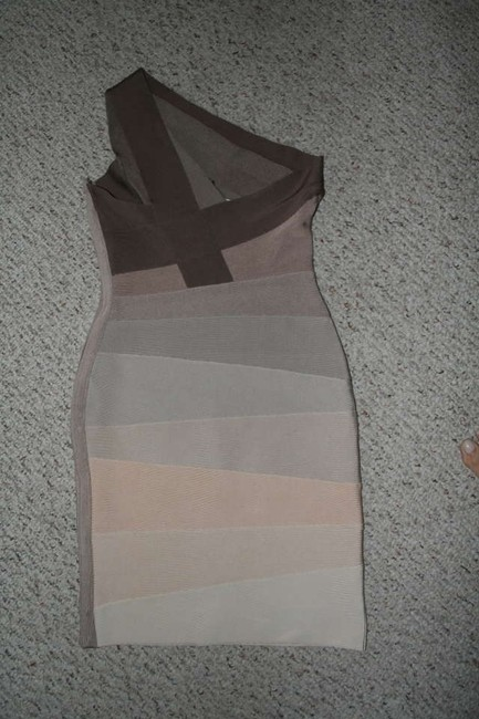 Hervé Leger Hard-to-find Rare Alexis Ombre One Shoulder Dress