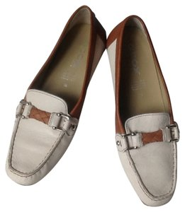 Geox Leather Respira Travel White/cognac Flats
