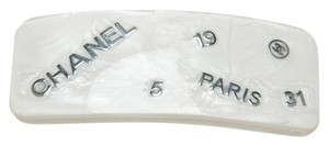 Chanel Chanel White and Silver 99A Hair Clip