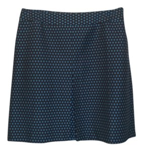 Ann Taylor LOFT Skirt Black & Teal Blue