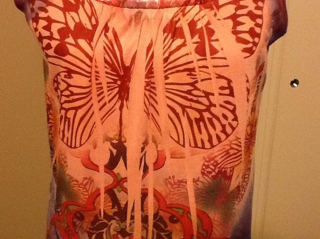 Apt. 9 Sleeveless Butterfly Loose Fit Comfortable Floral Top Rose