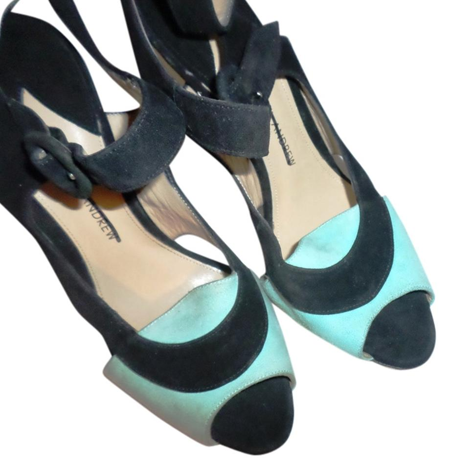 Paul High Andrew Black with Green Leather High Paul Heel Peep Sandals 9b5746