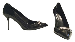 Gucci Never Worn Sexy Classic Black Patent Leather Pumps