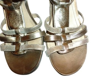Kenneth Cole Leather Good Condition Dull Gold Sandals