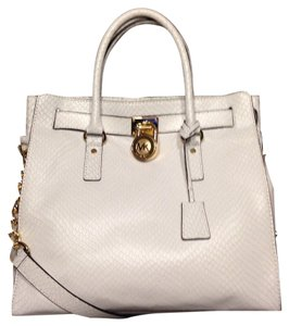 Michael Kors Hamilton Summer Satchel in White