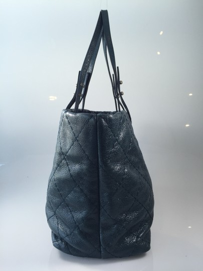 Chanel Leather Tote in Dark teal