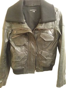 Theory Leather blk Leather Jacket