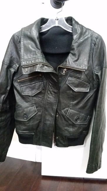Theory blk Leather Jacket