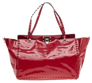 Valentino Leather Red Tote