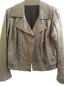 Superfine Leather dark grey Leather Jacket