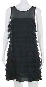 Marc by Marc Jacobs short dress Charcoal Gray Tiered Ruffle Chiffon on Tradesy