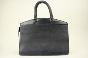 Louis Vuitton Leather Black Riviera Satchel in Epi