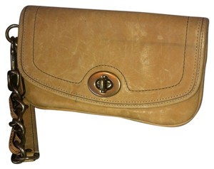 Coach Legacy Chained Wristlet in Tan