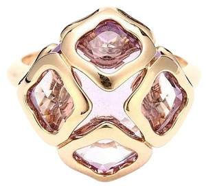 Chopard Chopard 18K Rose Gold Crystal Diamonds Ring US 5.75