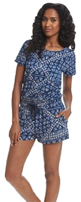 Preload https://img-static.tradesy.com/item/13406506/dkny-mood-indigo-batik-print-drawstring-shorts-mini-romperjumpsuit-size-8-m-0-3-650-650.jpg