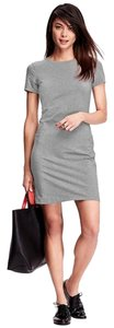 Old Navy short dress Gray with light gray flowers on Tradesy