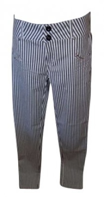 Preload https://item2.tradesy.com/images/black-and-white-stripes-with-crystal-detail-straight-leg-pants-size-8-m-29-30-134066-0-0.jpg?width=400&height=650