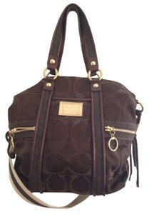 Coach Satchel in Brown and gold