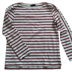J.Crew T Shirt Red and white stripe