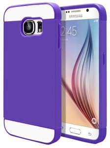MagicMobile Samsung Galaxy S6 Ultra Slim Protective Purple Case with Clear Screen Protector