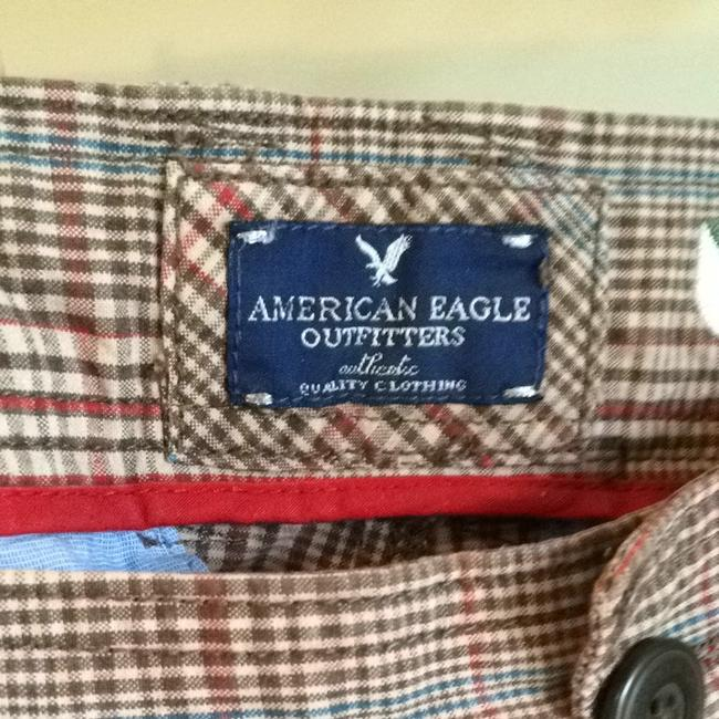 American Eagle Outfitters Shorts Brown, Blue, Red