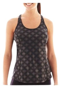 Xersion NWT Xersion Black Foil Print Racerback Tank Top