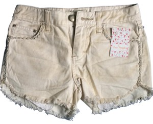 Free People Mini/Short Shorts Eggshell