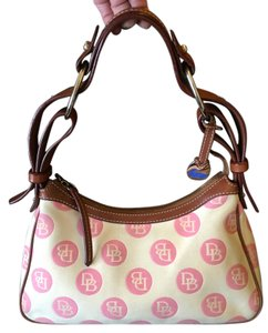Dooney & Bourke & Pink Cream Signature Shoulder Bag