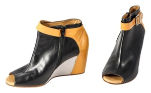 MM6 Maison Martin Margiela Colorblock Ankle Boots Black/Yellow/Grey Wedges