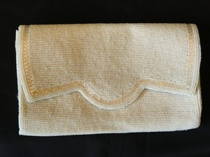 Ivory Vintage Beaded Clutch Bridal Handbag