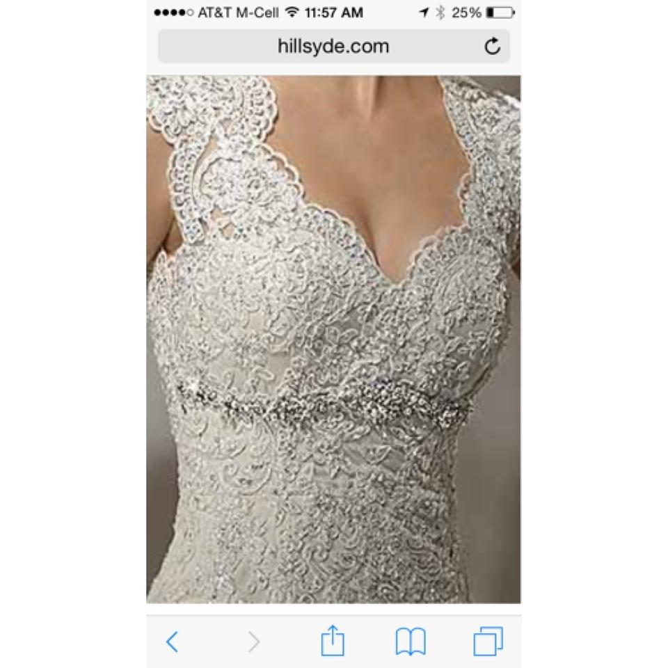 a2c0d2a25 Maggie Sottero Ivory Over Champagne Lace Bernadette Vintage Wedding Dress  Size 8 (M) - Tradesy