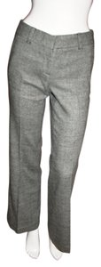 Tory Burch Straight Pants Black/White Tweed