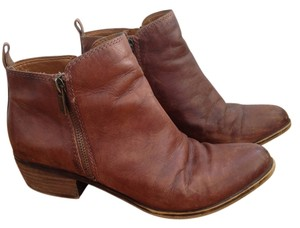 Lucky Brand Distressed Leather Bootie Toffee Boots