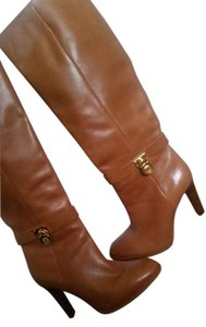 Michael Kors Leather Cognac Tan Boots