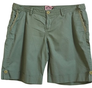 Juicy Couture Bermuda Cuffed Shorts Green Khaki