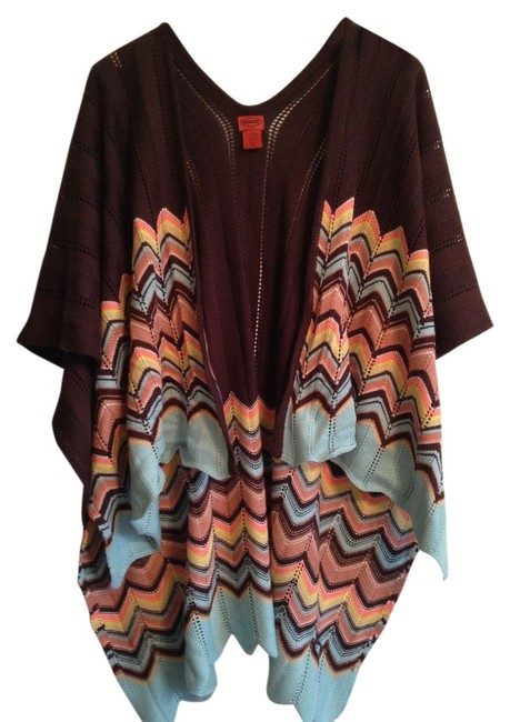 Preload https://img-static.tradesy.com/item/13409116/missoni-for-target-brown-mulitcolor-ruana-knit-wrap-sweaterpullover-size-os-one-size-0-1-650-650.jpg